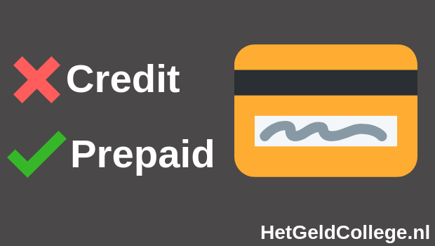 Creditcard of prepaidcard