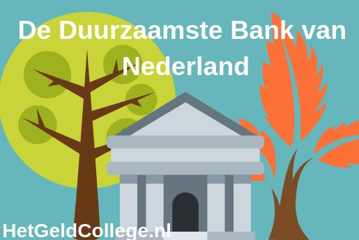 De Duurzaamste Bank van Nederland