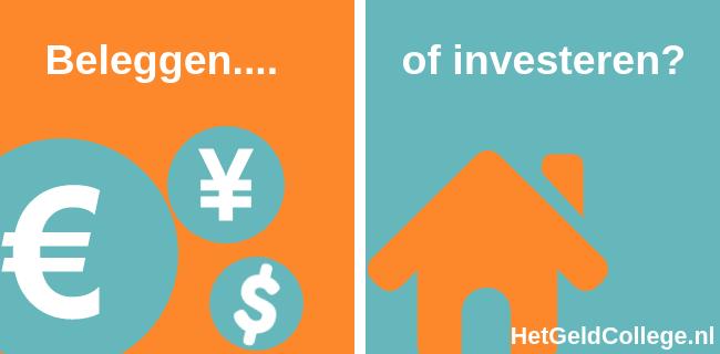 Verschil beleggen en investeren