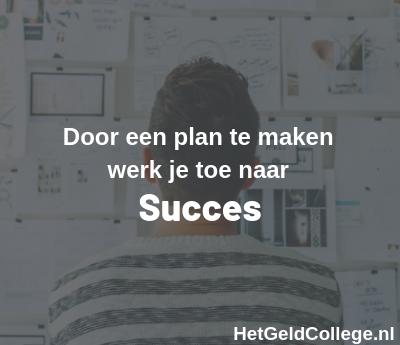 plan voor succes